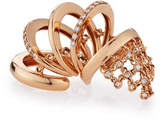 Yeprem Camouflage Rose Gold & Diamond Flex Ring