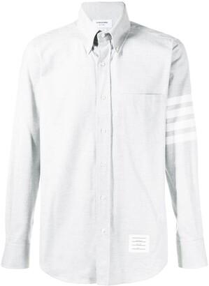 Thom Browne 4-bar Solid Rwb Stripe Shirt
