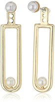 BCBGeneration Pearl De Loop Jacket Earrings