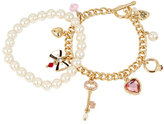 Betsey Johnson Betsey Gifting Charmy Pearl Bracelet Set