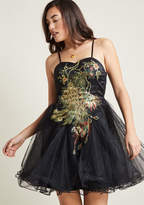 Chi Chi London Perfect Poise Tulle Dress in Peacock in 22