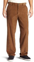 Haggar Mens Work-To-Weekend Hidden Expandable-Waist Corduroy Plain-Front Pant