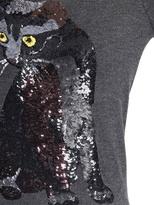 Markus Lupfer Felix Cat Sequined Wool Sweater