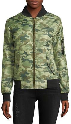 Chrldr Camouflage Bomber Jacket