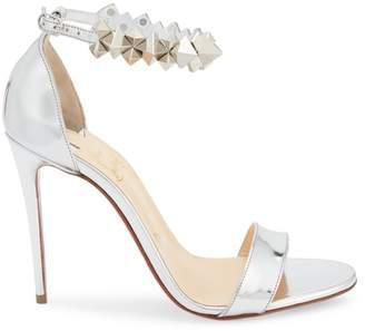 Christian Louboutin Planetava Studded Metallic Leather Sandals