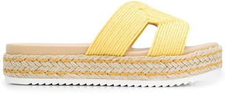 Carvela Kaia contrast panel sandals