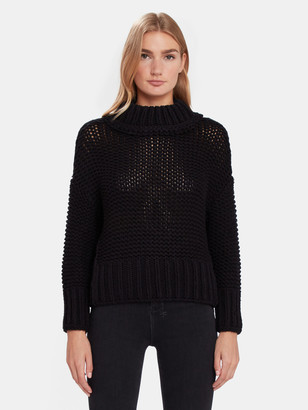 Free People My Only Sunshine Crop Knit Sweater