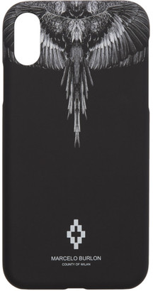 Marcelo Burlon County of Milan Black and Grey Wings iPhone XR Case