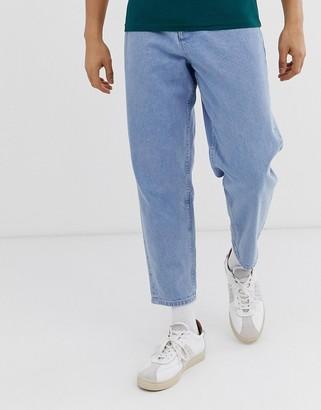 Asos tapered jeans in 14oz light wash denim