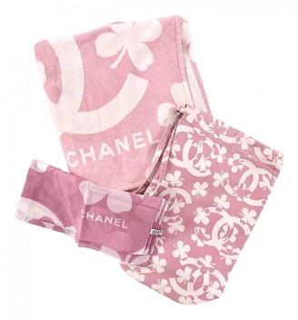 Chanel Pink Cotton Swimwear