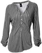Heine Collarless Striped Shirt