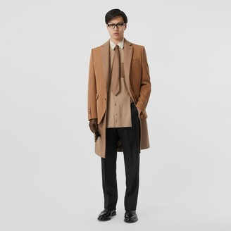 Burberry Camel Hair Coat with Detachable Wool Jacket