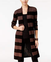 INC International Concepts Striped Open-Front Cardigan, Only at Macy's