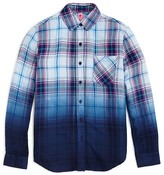 So Nikki... Girls' Plaid Dip Dye Button Down Shirt - Sizes S-XL
