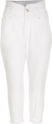 River Island Womens Petite White high rise jeans