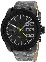 Diesel DZ1664 Men's Double down Black & Grey Leather Watch