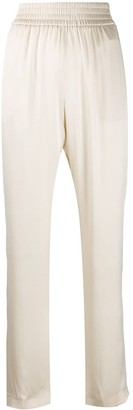 Fabiana Filippi High-Rise Silk Trousers