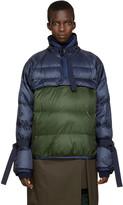 Sacai Navy & Green Down Jacket