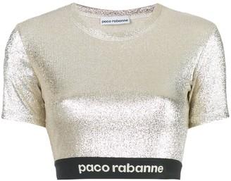Paco Rabanne stretch lurex top
