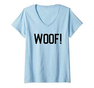 Womens Woof! Gay Pride Bear V-Neck T-Shirt