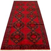 One-of-a-Kind Southwestern Hand-Knotted Runner 4'8'' x 11'10'' Wool Red/Blue Area Rug Isabelline