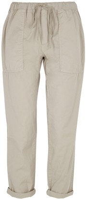 Velvet by Graham & Spencer Misty stone cotton cargo trousers