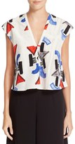 Rachel Comey Women's 'Boone' Cotton & Silk Crop Top