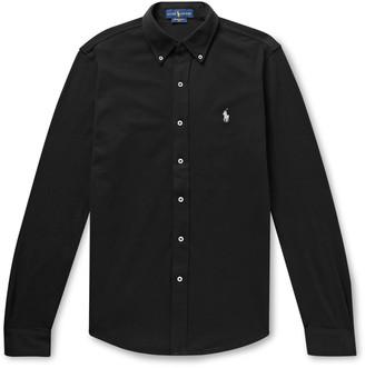 Polo Ralph Lauren Slim-Fit Button-Down Collar Cotton-Pique Shirt