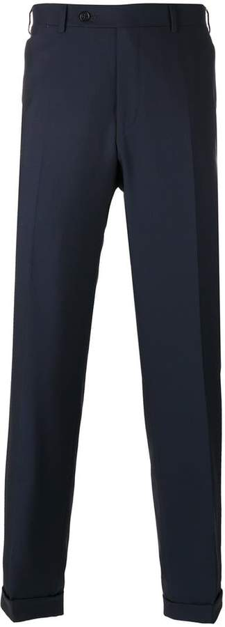 Canali regular pleated trousers
