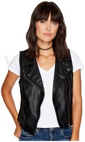 BB Dakota Kenedie Textured PU Moto Vest Women's Vest