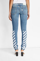 Off-White Off White Printed Slim Jeans