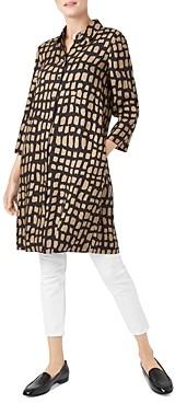 Hobbs London Aubery Animal-Print Shirt Dress