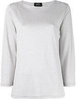 A.P.C. Breton stripe jumper - women - Spandex/Elastane/Viscose/Metallic Fibre - S