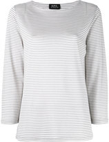 A.P.C. Breton stripe jumper - women - Viscose/Metallic Fibre/Spandex/Elastane - XS