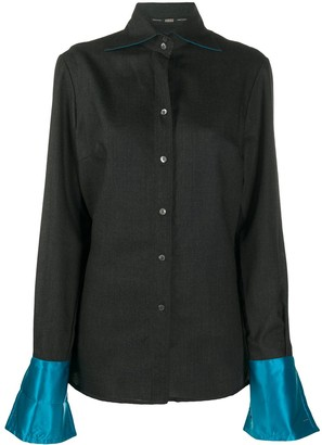 Gianfranco Ferré Pre-Owned 1990s Contrasting Cuffs Shirt