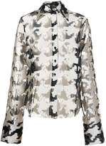 Marques Almeida Marques'almeida oversized fil coupé houndstooth pattern shirt