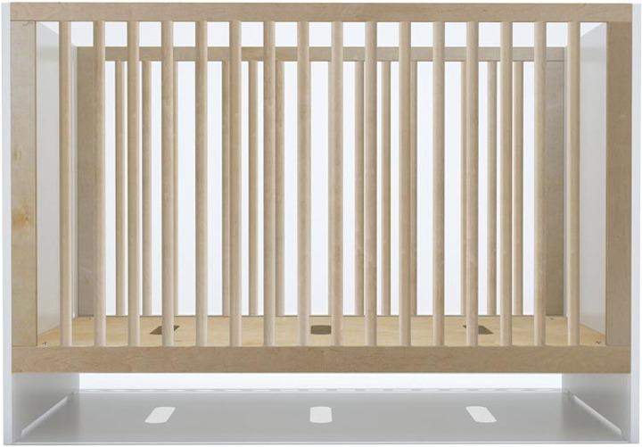 Spot On Square Oliv Crib - Birch and White