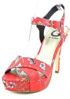 G by Guess Cenikka Women Open Toe Synthetic Red Platform Heel.