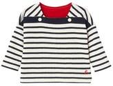 Petit Bateau Babys unisex long-sleeved striped double knit tee