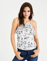 American Eagle Outfitters AE Soft & Sexy Hi-Neck Ruffle Tank