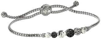 John Hardy Dot Hammered Mini Chain Pull Through Bracelet (Black Sapphire/Black Spinel) Bracelet