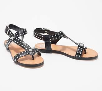 Vince Camuto Leather Studded Sandals Ravensa