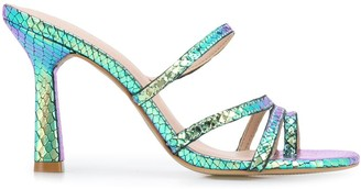 Carvela Goddess embossed style sandals