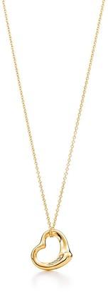 Tiffany & Co. Elsa Peretti Open Heart pendant in 18k gold with diamonds