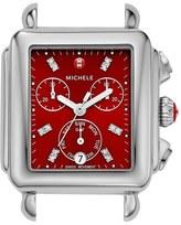 Michele 'Deco' Diamond Dial Watch Case, 33mm
