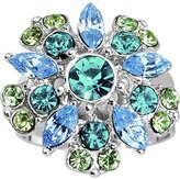 Body Candy Blue Green Erotic Flower Adjustable Ring