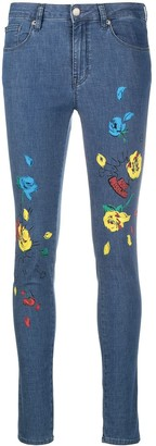 Love Moschino Floral Print Skinny Jeans
