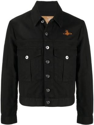 Vivienne Westwood Chevron Pattern Logo Jacket