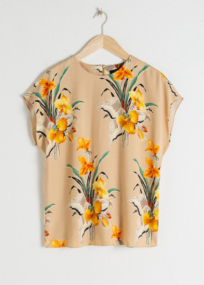 And other stories Tropical Flower Top