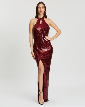 Bariano Savannah Keyhole Sequin Gown